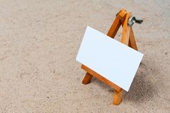 Easel in the sand Royalty Free Stock Image