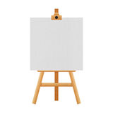Easel stand isolated for paintings in exhibition of paper illust Stock Photos