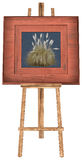 Easel Stand Picture Frame Isolated Royalty Free Stock Photo