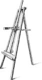 Easel. Vector image of the artist easel Stock Photos