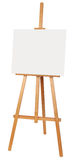 Easel on White Background with Blank Canvas. Royalty Free Stock Images