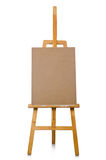 Easel on the white background Stock Images
