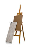 Easel on the white background Stock Image