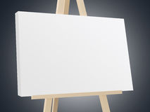 Easel with White Canvas Stock Images