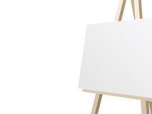 Easel with White Canvas Royalty Free Stock Photo