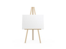Easel with White Canvas Royalty Free Stock Photos