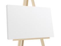 Easel with White Canvas Royalty Free Stock Photography