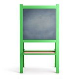 Easel on a white. Easel in a green frame on a white background. 3d illustration Royalty Free Stock Image