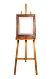 Easel and wood frame Stock Photos