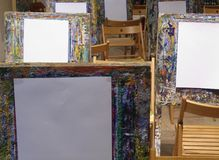 Easels royalty free stock image