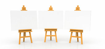 Easels with blank canvases Stock Image