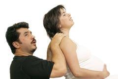 Easing back pain stock photo