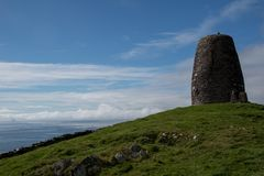 Eask tower with cloudy blue sky. In Irleand Stock Images