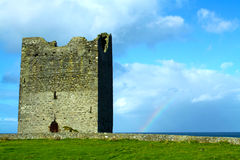 Easky Castle Co. Sligo Ireland. Easky castle with a rainbow co. sligo ireland on a beautiful sunny day Stock Image
