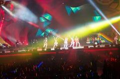 Eason Chan Shanghai live show. Shanghai Expo Culture Center, DEC 8, 2012 royalty free stock photos