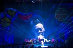 Eason Chan Shanghai live show. Shanghai Expo Culture Center, DEC 8, 2012 royalty free stock photo