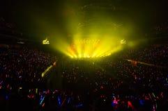 Eason Chan Shanghai live show. Shanghai Expo Culture Center, DEC 8, 2012 stock photo