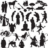 The east. Black silhouette royalty free illustration