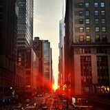East 42st street at sunset Royalty Free Stock Photography
