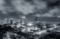 East African city before sunrise stock photo