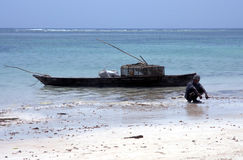 East African Fisherman Royalty Free Stock Photography