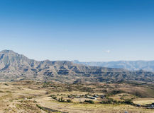 East african landscape near lalibela ethiopia Royalty Free Stock Images