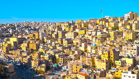 East Amman,Jordan. H.D.R image of east Amman with intensified colors Royalty Free Stock Photography