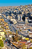 East Amman,Jordan. H.D.R image of east Amman with intensified colors Royalty Free Stock Images