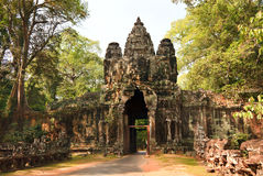 East ancient gate to Angkor Thom Royalty Free Stock Photo