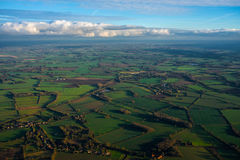 East Anglia from above stock images