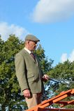 East Anglia Equestrian Fair English countryman holding reins of Carthorse Stock Photos