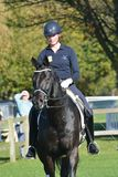 East Anglia Equestrian Fair woman practising dressage Royalty Free Stock Photography