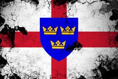 East Anglia oxidado y ejemplo de la bandera del grunge stock de ilustración