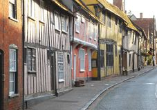 East Anglia rural village. Lavenham, Suffolk, UK Royalty Free Stock Photo