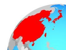 East Asia en el globo ilustración del vector