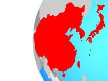 East Asia en el globo stock de ilustración