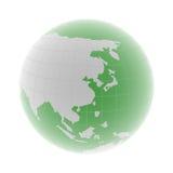 East Asia en el globo Fotos de archivo libres de regalías
