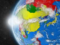 East Asia region from space Stock Photo