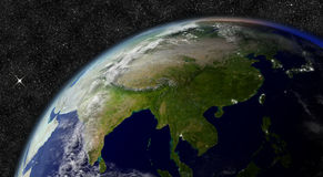 East Asia from space. Elements of this image furnished by NASA Royalty Free Stock Photos
