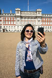 East Asia tourist woman visiting London Royalty Free Stock Image