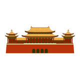 East Asian Building icon. Stock Images