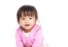 East Asian cute girl royalty free stock photography