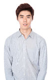 East Asian Korean young man studio portrait Stock Images
