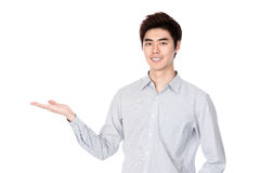 East Asian Korean young man studio portrait Stock Photo