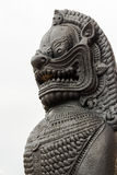 East Asian lion statue Royalty Free Stock Photo
