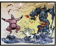 East Asian monsters Royalty Free Stock Images