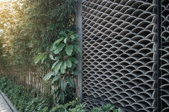 East Asian style wavy pattern of tile wall.  Stock Image