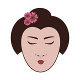 East asian woman icon image Stock Photos