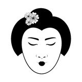 East asian woman icon image Stock Image