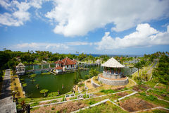 East Bali palace and park landscape Royalty Free Stock Images